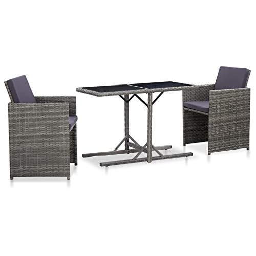 vidaXL Balkonset mit Tisch & 2 Stühlen