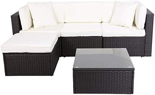GOJOOASIS Polyrattan Lounge Sitzgruppe (200 cm Länge)