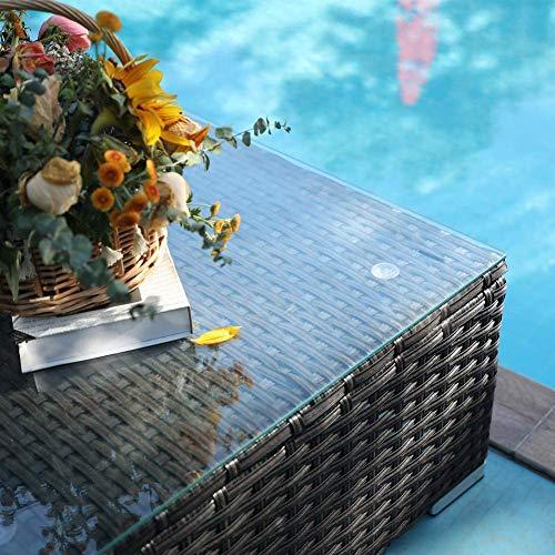 PHI VILLA Rattan Gartenmöbel Sets mit Aluminiumrahmen - 4