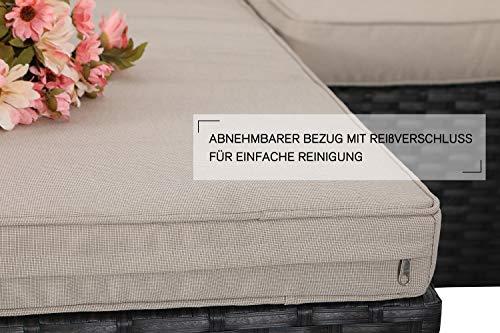 PHI VILLA Rattan Gartenmöbel Lounge Set - 4