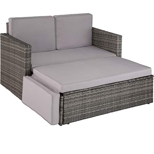 TecTake Poly Rattan 2 Sitzer Sofa