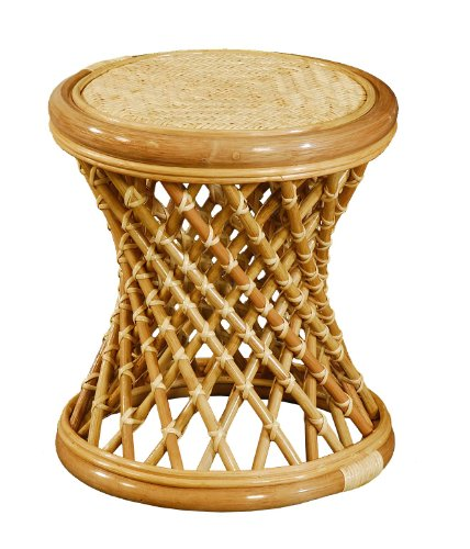 korb.outlet Rattan Hocker (Gekreuzt)